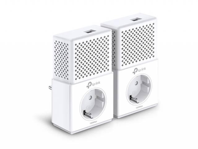Adaptador de Red a Corriente TP-LINK PA7010P Starter Kit Powerline Gigabit 1000 Mbps (KIT de 2 Unidades)