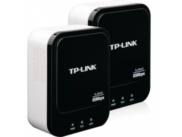 Adaptadores de Red a Corriente TP-Link TL-PA101 Starter Kit Powerline 85 Mbps (KIT de 2 Unidades)