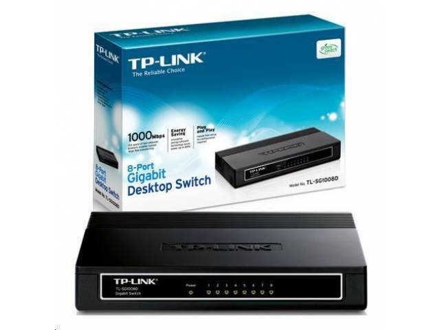 Switch TP-LINK TL-SG1008D 8 Puertos 10/100/1000 Carcasa Plástica