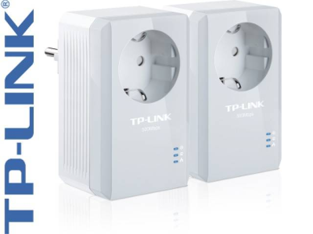 Adaptadores de Red a Corriente AV500 TP-LINK TL-PA4010P KIT Powerline 500 Mbps ( KIT 2 Unidades)