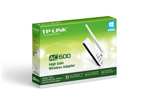 Mini Adaptador USB Wireless de Alta Ganancia Archer AC600 TP-LINK T2UH Dual Band
