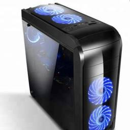 Gabinete GAMER CASE F-902B Lateral Transparente