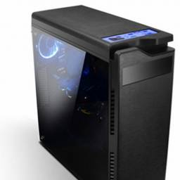 Gabinete GAMER CASE F-901B Lateral Transparente