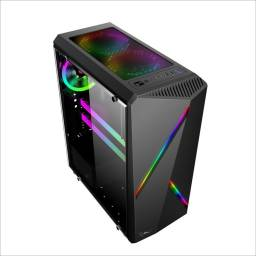 Gabinete Gamer Shot Gaming 8415 Lateral Transparente
