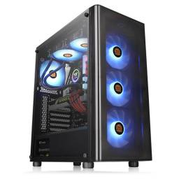 Gabinete Gamer Thermaltake V200TG Lateral Transparente Mid Tower + Fuente de 500W