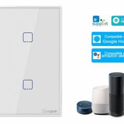 Interruptor Inteligente Sonoff T0US2C-TX táctil de pared  2 Pulsadores WiFi