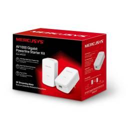 Adaptadores de Red a Corriente  Cableado Gigabit AV1000 Mercusys MP500 KIT Powerline Gigabit  ( KIT 2 Unidades)