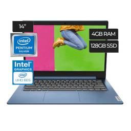 Notebook Lenovo Ideapad 1 14IGL05 Pentium Silver N5030 1.1GHz (4Gb128SSD) 14  - Factory Ref.