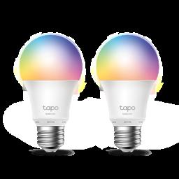 Lámpara LED Smart Wi-Fi TP-LINK Tapo L530E Con Cambios de Color Pack 2 unidades