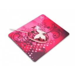 Combo Mouse y Mouse Pad JETION JT-DMS046 mariposa violeta