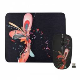 Combo Mouse Inalambrico y Mouse Pad JETION JT-NMS028
