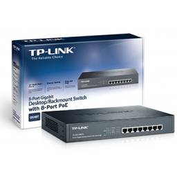 Switch TP-LINK TL-SG1008PE 8 bocas Power Over Ethernet Gigabit Rackeable