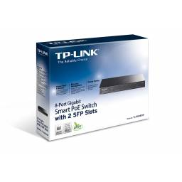 Switch TP-LINK T1500G-10PS (TL-SG2210P) 8- Puertos Gigabit 2 SFP POE Administrable Smart