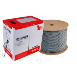 Bobina cable UTP INTEX Cat 5E Gris IT-305ME 305 Metros