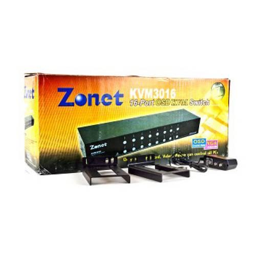 Switch Zonet KVM3016 16-Puertos PS/2 Sin Cables